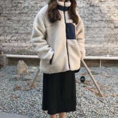 新作 秋冬 ボアブルゾン もこもこ ボアジャケット レディース カジュアル アウター 韓国ファッション オルチャン