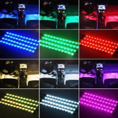 送料200円 LED テープライト 100cm 1m 間接照明 防水 USB フットライト 足元 車内 インテリア 赤 青 白 温白の4カラー カット