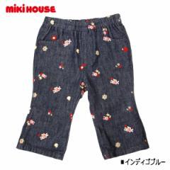 ミキハウス(MIKIHOUSE)うさこ♪刺繍デニムパンツ(インディゴブルー・80)
