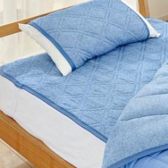 ひんやり超冷感リバーシブル軽寝具「スノーアイス」 敷きパッド ダブル 吸水速乾 抗菌 防臭