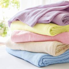 ガーゼケット 綿100% 洗える 肌掛け サマーケット 綿100%ふわサラッ5重ガーゼケット