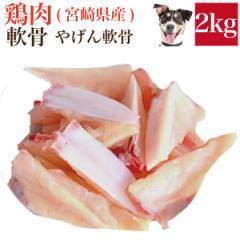 ペット・犬用 生肉(鶏肉 軟骨 2kg)バラ凍結ではございません【冷凍 配送】