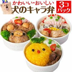 犬・手作りご飯(犬用 キャラ弁 3個)無添加 国産 【冷凍】