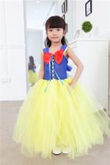 a6d505270a342 白雪姫風コスプレ ハロウィン 衣装 子ども用 コスチューム 女の子 コスチューム子供コスプレ白雪姫風ロングドレス