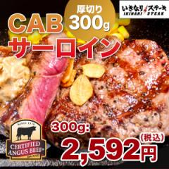 CABサーロインステーキ300g お肉単品 ステーキソース1袋 牛肉 肉 いきなり!ステーキ 熨斗対応 ※バターソースは付属いたしません。