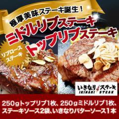 【いきなりステーキ】トップリブ&ミドルリブステーキ(トップリブ250g、ミドルリブ250g、ステーキソース2袋、バターソース1本)