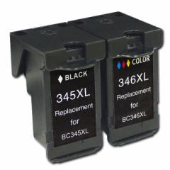 BC-345XL-346XL 計2個セット キヤノン BC-345-346 カラー(3色1体型)とブラック 大容量版 【リサイクル(