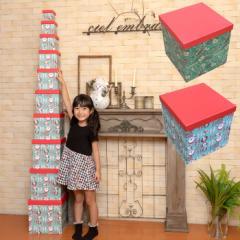 マトリョーシカ クリスマス ギフトボックス クリスマスツリー ボックスタワー インテリア 貼り箱 飾り おしゃれ 北欧 かわいい サンタク