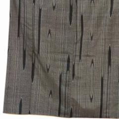 【中古】リサイクル着物 紬 / 正絹黒地袷真綿紬着物 / レディース【裄Mサイズ】(古着 リサイクル品 紬 )