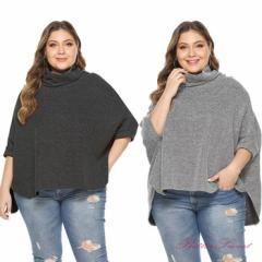 大きいサイズ シャツ カットソー ブラック、グレー、ブルー、ワインレッド 【フリーサイズ:バストは180cm・着丈は83cm】【dnz12sz】
