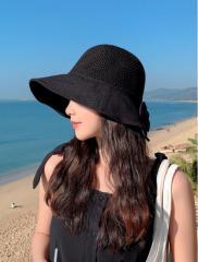 帽子  レディース    紫外線カット 55cm-60cm  【イエロー、ブル−、カーキ、ブラック、ピンク、カーキ&オレンジ】ht40hd