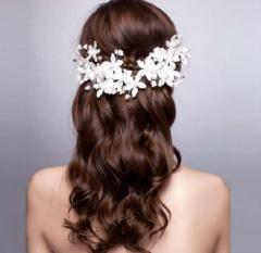 髪飾り/ヘアーアクセサリー/ウエディング/ウェディング/ヘッドドレス/二次会/ウエディング小物/f285