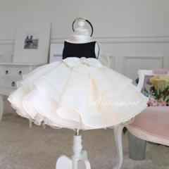 子供 ドレス 発表会 ワンピース お出かけ 女の子 こどもドレス ノースリーブ ファスナー【ホワイト】【80cm〜150cm】【dd2】