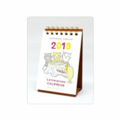 カレンダー 2019 年 くちばしさくぞう 卓上 レタープレス タテ  インテリア平成31年 暦 通販 メール便可