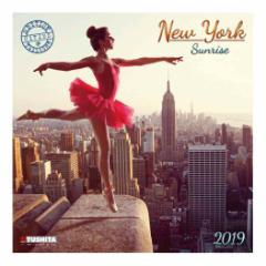 カレンダー 2019年 ニューヨークの朝日 NEW YORK SUNRISE 壁掛け カレンダー TUSHITA インテリア平成31年 暦 通販  予約