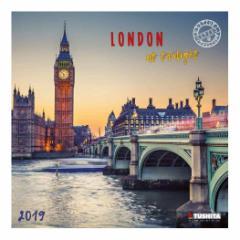 カレンダー 2019年 ロンドンの夕暮れ LONDON AT TWILIGHT 壁掛け カレンダー TUSHITA インテリア平成31年 暦 通販  予約