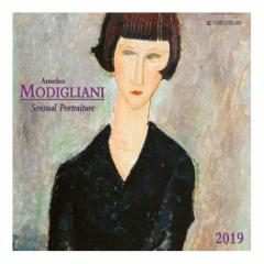 カレンダー 2019年 モジリアニ Amedeo Modigliani Sensual Portraits 壁掛け カレンダー TUSHITA インテリア平成31年 暦 通販  予約
