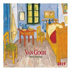 カレンダー 2019年 ゴッホ VAN GOGH Classic Works 壁掛け カレンダー TUSHITA インテリア平成31年 暦  予約 cp100