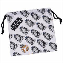スターウォーズ 最後のジェダイ 巾着袋 きんちゃくポーチ エピソード8 R2-D2&BB-8 STAR WARS キャラクターグッズ メール便可