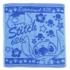スティッチ ハンドタオル ジャガード ハンカチタオル ブルー ディズニー キャラクターグッズ通販 メール便可