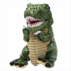 DINOSOUR おもちゃ ぬいぐるみハンドパペット グリーン 恐竜 おもしろZAKKAグッズ通販