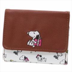 スヌーピー レディース財布 二つ折りミニ財布 プレゼント ピーナッツ キャラクターグッズ通販