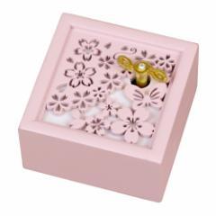 取寄品  桜 オルゴール 木製 Aメロディ オルゴール 海の見える街  インテリアグッズ通販