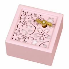 取寄品  桜 オルゴール 木製 Aメロディ オルゴール 人生のメリーゴーランド  インテリアグッズ通販