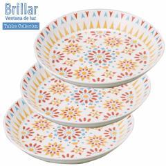 取寄品 カレー用プレート 3個セット カレー皿 レッド ブリジャール 日本製新生活 インテリア 生活雑貨通販