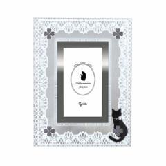 取寄品 フォトフレーム クロネコ雑貨 黒猫ガラスフレーム G-3196N ギフト グッズ