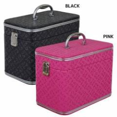取寄品 送料無料 化粧箱 ねこ雑貨 猫型押し柄 バニティケース G-5561 BLACK PINK ギフト グッズ