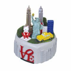 取寄品 オルゴール 出産祝い ポリレジン オルゴール ニューヨーク 星に願いを ギフト グッズ
