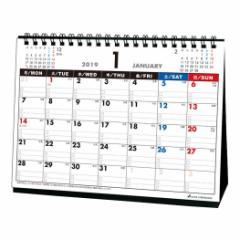 カレンダー 2019 年 月曜始まり 卓上 スケジュール  シンプル オフィス平成31年 暦  予約 メール便可  cp100