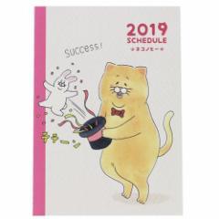 手帳 2019 年 月間 B6 マンスリー ダイアリー ネコノヒー LINE スケジュール帳 12月始まり 平成31年手帖 メール便可