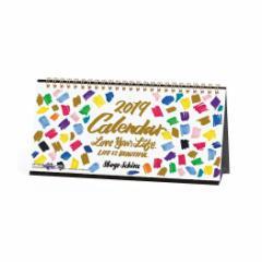 卓上カレンダー 2019年 SHOGO SEKINE ゴールドアクセント インテリア 215×108mm 2019 Calendar メール便可