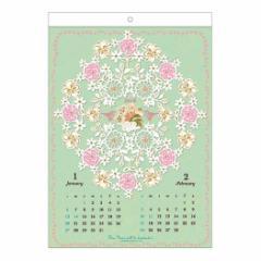 切り絵 カレンダー 2019年 KIRIEデザイン 壁掛け ガーリー イラスト平成31年 暦 予約 cp100