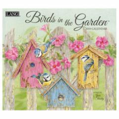 2019 壁掛け カレンダー ラング LANG BIRDS IN THE GARDEN Jane Shasky 340×610mm インテリア 2019 Calendar