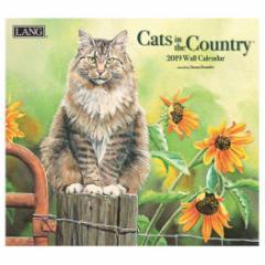 2019 カレンダー 壁掛け ラング LANG CATS IN THE COUNTRY Susan Bourdet 340×610mm インテリア 2019 Calendar