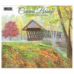 アート カレンダー 2019年 LANG ラング 製 壁掛け COVERED BRIDGE Persis Clayton 340×610mm インテリア 2019 Calendar