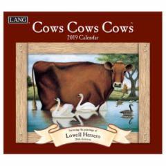 カレンダー 2019 ラング LANG 壁掛け COWS COWS COWS Lowell Herrero 340×610mm インテリア 2019 Calendar
