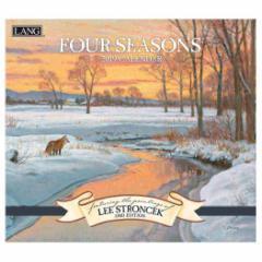 カレンダー 2019年 ラング LANG 壁掛け FOUR SEASONS Lee Stroncek 340×610mm インテリア 2019 Calendar