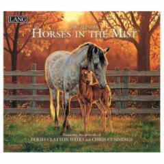 2019 カレンダー アート LANG ラング社 壁掛け HORSE IN THE MIST Clayton Weirs 340×610mm インテリア 2019 Calendar