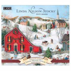2019 カレンダー ラング LANG 海外 壁掛け LINDA NELSON STOCKS 340×610mm インテリア 2019 Calendar