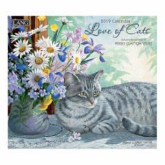 猫カレンダー 2019年 LANG ラング社 LOVE OF CATS Persis Clayton Weirs 340×610mm インテリア 2019 Calendar