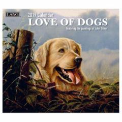 犬カレンダー 2019年 ラング LANG LOVE OF DOGS John Weiss 340×610mm インテリア 2019 Calendar