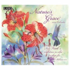 2019 カレンダー 絵画 LANG ラング 製 NATURE'S GRACE Susan Winget インテリア平成31年 暦  予約 cp100