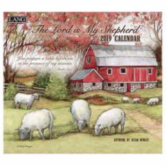 カレンダー 2019 ラング LANG 壁掛け THE LORD IS MY SHEPHERD Susan Winget 340×610mm インテリア 2019 Calendar