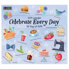 LANG ラング カレンダー 2019年 CELEBRATE EVERY DAY Paula Toorling 340×610mm インテリア 2019 Calendar