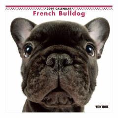 フレンチブルドッグ カレンダー 2019 年 壁掛け THE DOG いぬ 9月中旬発売予定 60×30cm 2019 Calendar 予約