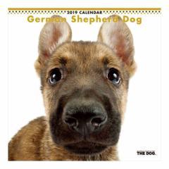 ジャーマンシェパードドッグ カレンダー 2019 年 壁掛け THE DOG いぬ 9月中旬発売予定 60×30cm 2019 Calendar 予約